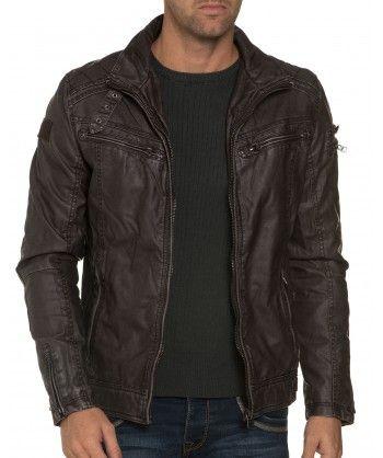 http://blzjeans.com/blouson-veste-unis/15954-veste-homme-marron-en-simili-cuir-deeluxe-jeans.html