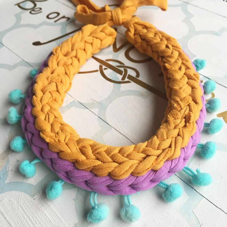 A personal favourite from my Etsy shop https://www.etsy.com/ie/listing/493494021/chunky-statement-necklace-zpagetti-yarn