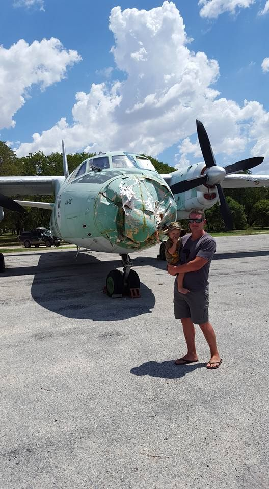 Omega 1 abandoned SANDF military base - Russian aircraft left behind.