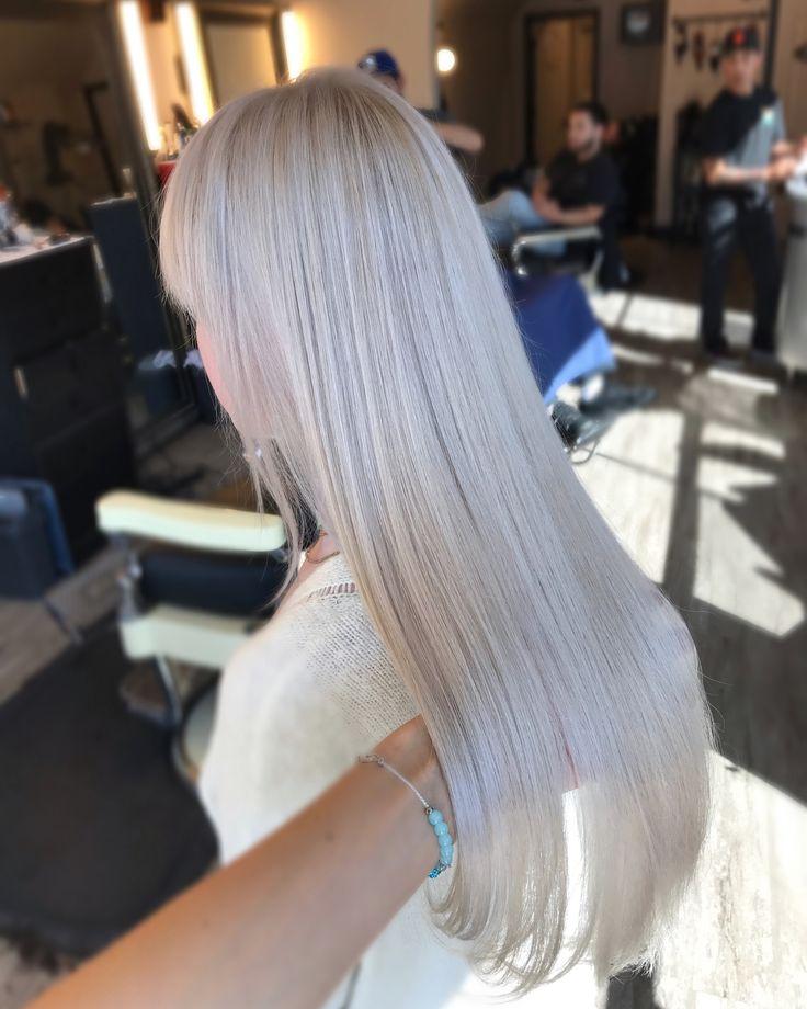 Ice Blonde Light Silver White Hair My Hair Portfolio