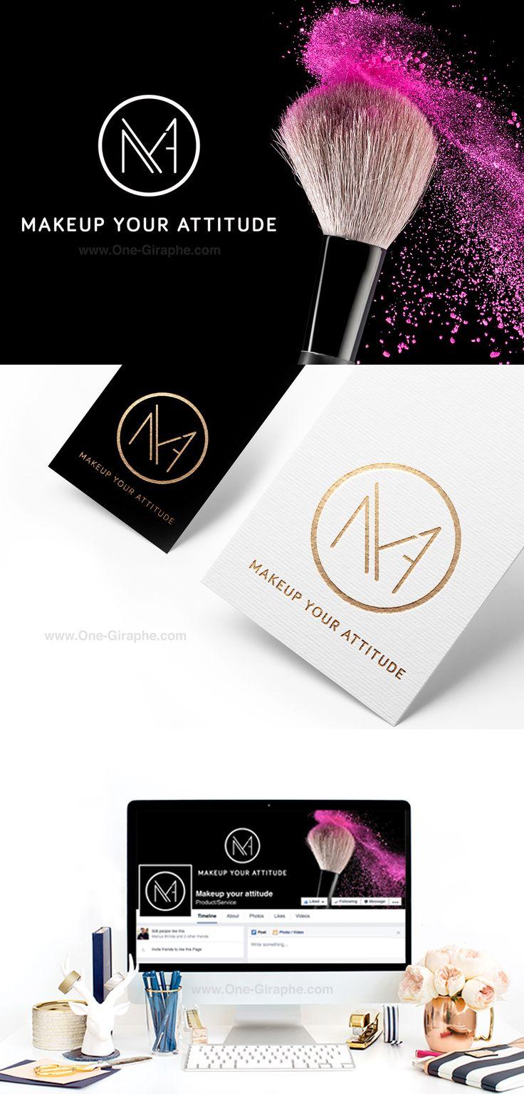 http://one-giraphe.com/prev.php?c=158 Portfolio #logo #logodesign #logodesigner #makeup #makeupartist #onegiraphe #gold #black #white #graphic #graphicdesigner