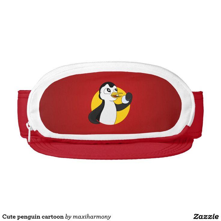 Cute penguin cartoon visor
