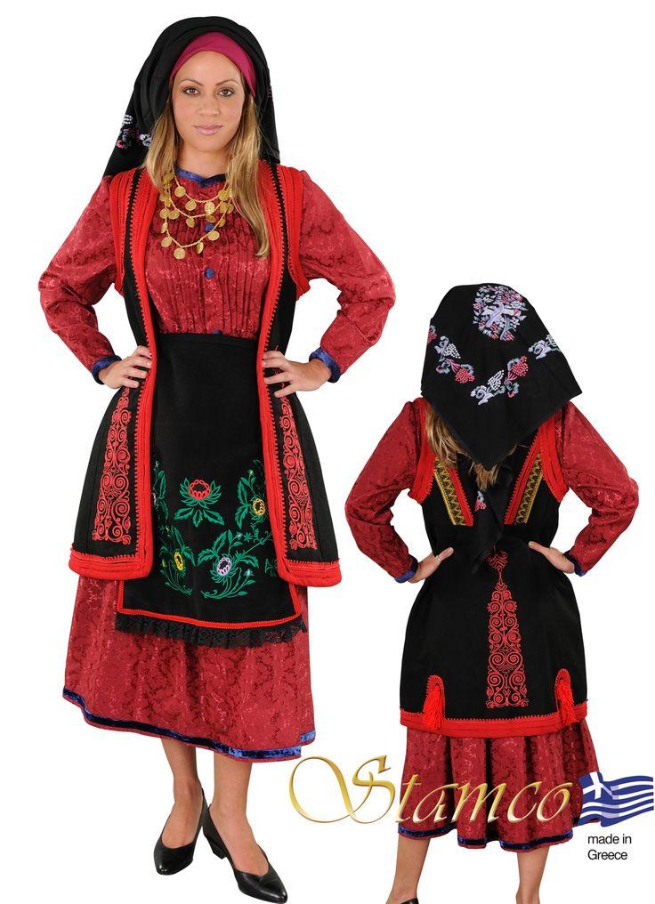 Greek traditional costume  epirus ZAGORI EMBROIDERY