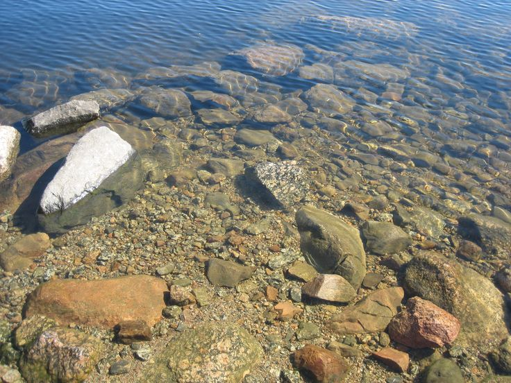 Clear, drinkable water in the Lake Keitele, Central Finland