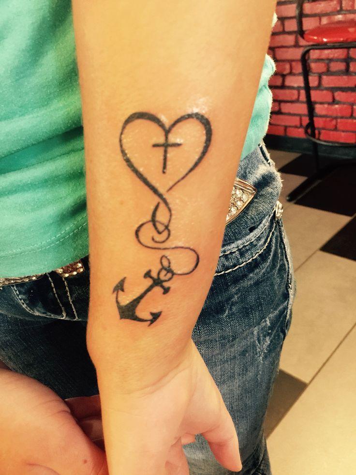 Die besten 25+ Glaube Hoffnung Liebe Tattoo Ideen auf