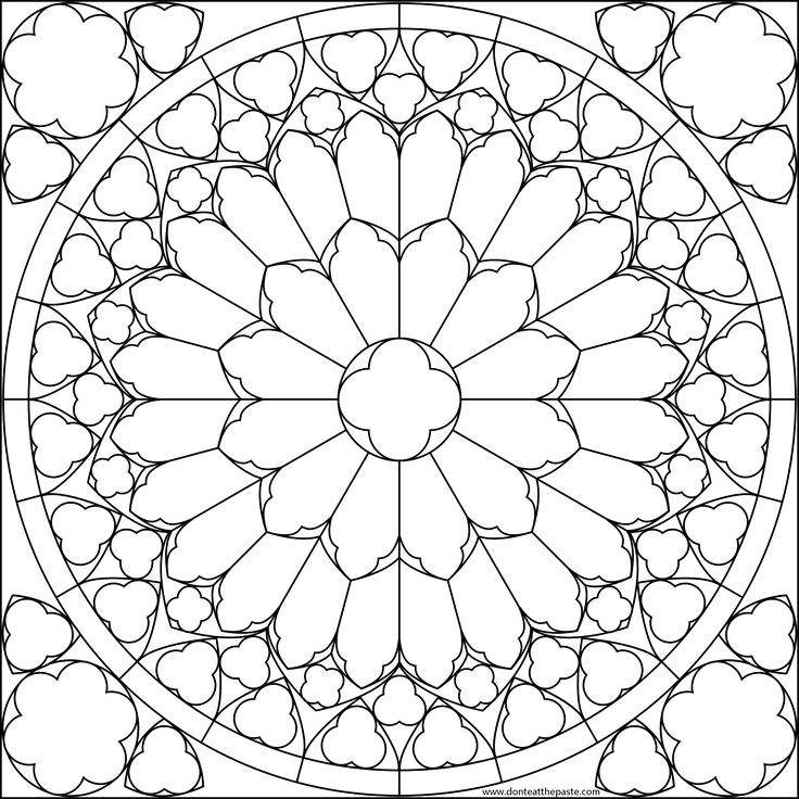 South Rose Window Notre Dame Coloring Page Going Over Important Buildings In Our World