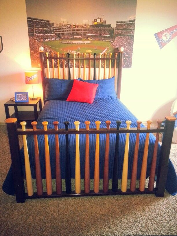 Baseball headboard and footboard <3 it                                                                                                                                                                                 More