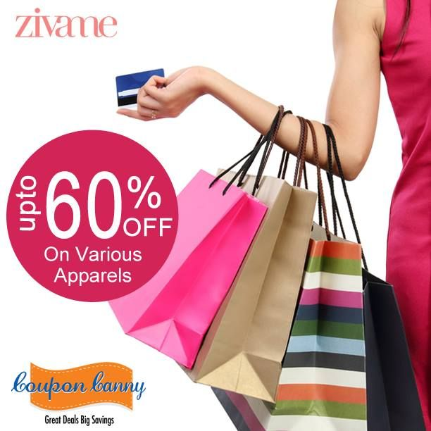 Upto 60% off on various #apparels at #Zivame! Claim Now : http://www.couponcanny.in/zivame-coupons/