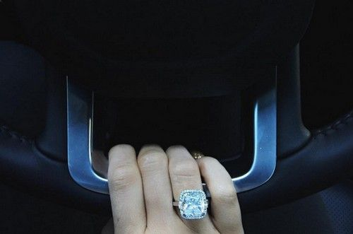 Kylie Jenner got a huge engagement ring for Christmas from Tyga and she's showing it off all over Instagram.