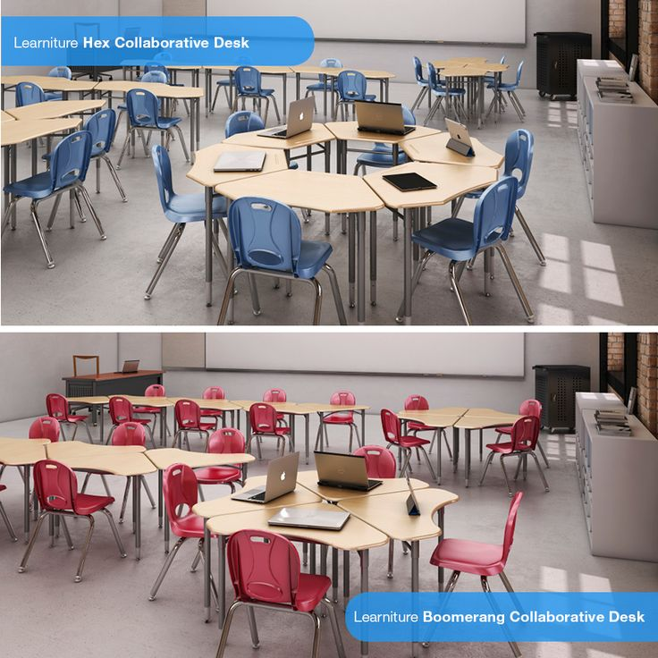 What desk shape would your prefer in your classroom? Our Learniture Hex Desk or our Learniture Boomerang Desk?
