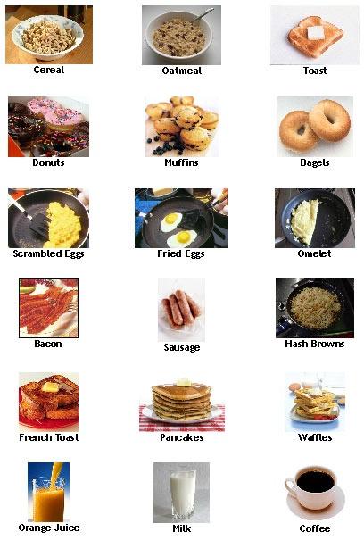 Typical American Breakfast - ESL Worksheets - www.learn-english-esl-resources.com
