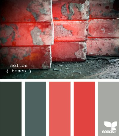 molten tones! Refreshing paired with grey!