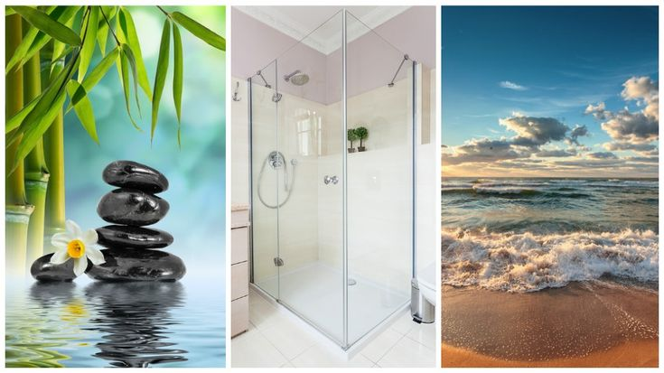 23 besten duschtapeten und r ckw nde bilder auf pinterest badezimmer hausbau und einrichtung. Black Bedroom Furniture Sets. Home Design Ideas