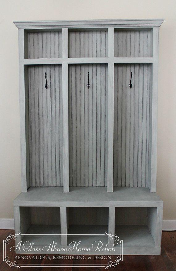Foyer Mudroom Lockers : Entryway mudroom locker bench lockers shabby chic