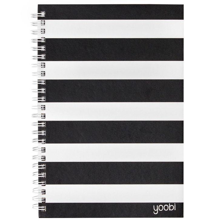 Spiral Notebook - Black and White Stripe