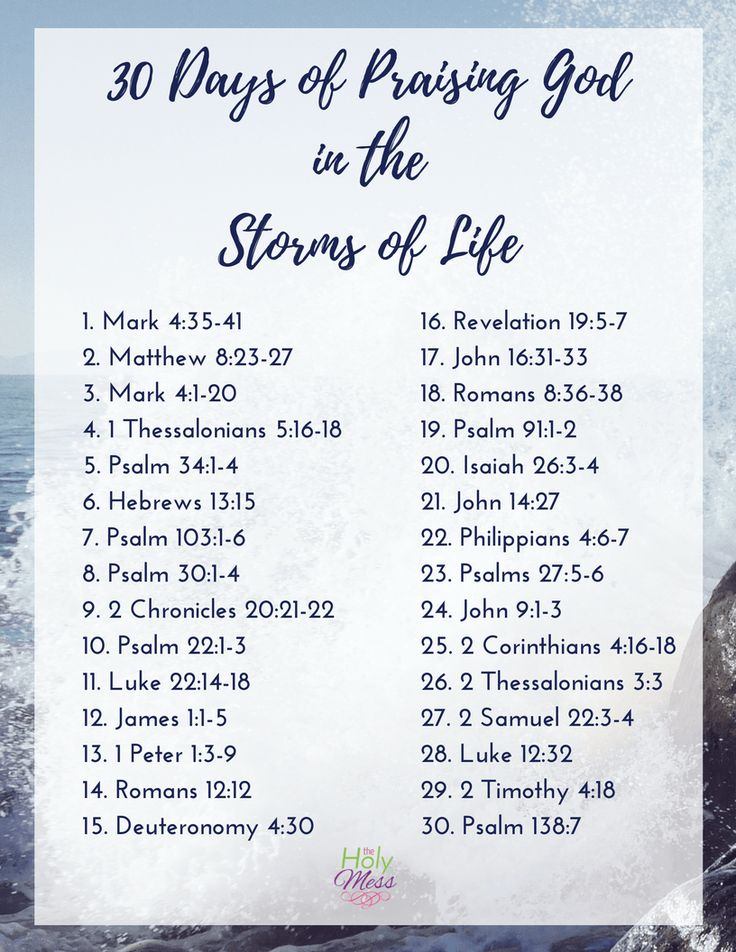 Use this Bible reading plan to praise God in life's storms & trials. Get the free 30 Days of Praising God in the Storms of Life reading plan here.