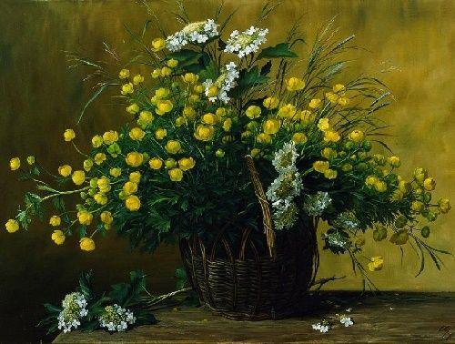 globe flower. 2005. Oil on canvas