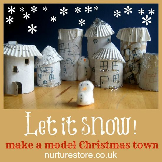 let it snow Christmas craft - make a model Christmas Town!