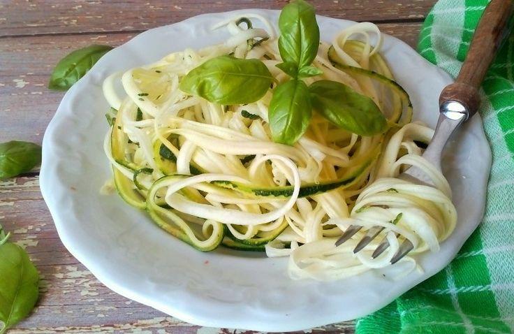 Cukkini spagetti tészta recept