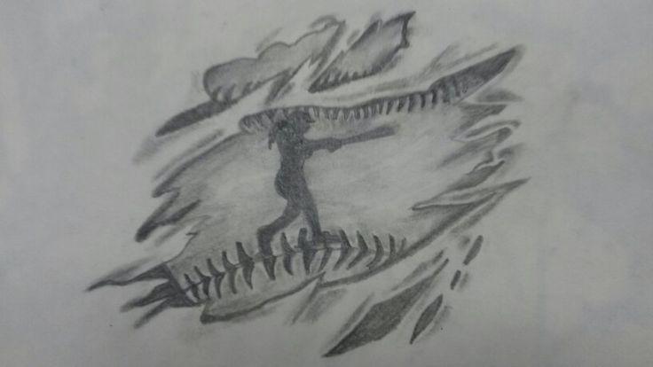 A tattoo design created by me (Breanna D'Hondt) #softball #softballplayer#tattoo