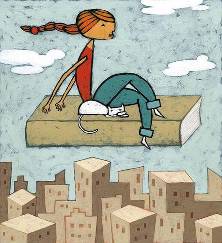 Un libro es como una alfombra voladora que te lleva a lugares mágicos