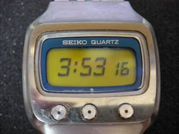 ★セイコー/SEIKO 0614-5000/デジタル時計/初期型/チタン/クォーツ/希少/動作品★_画像1