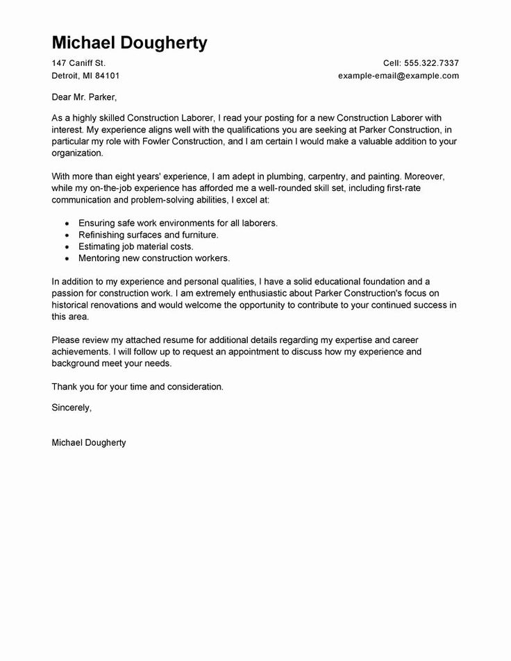 General laborer resume job description awesome best
