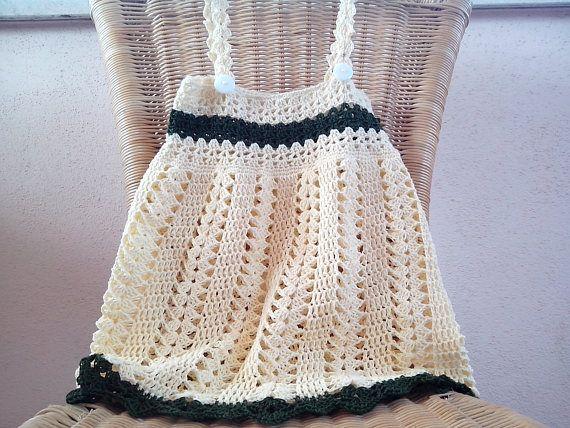 Crochet summer dress Pattern 502 Yellow dress pattern baby