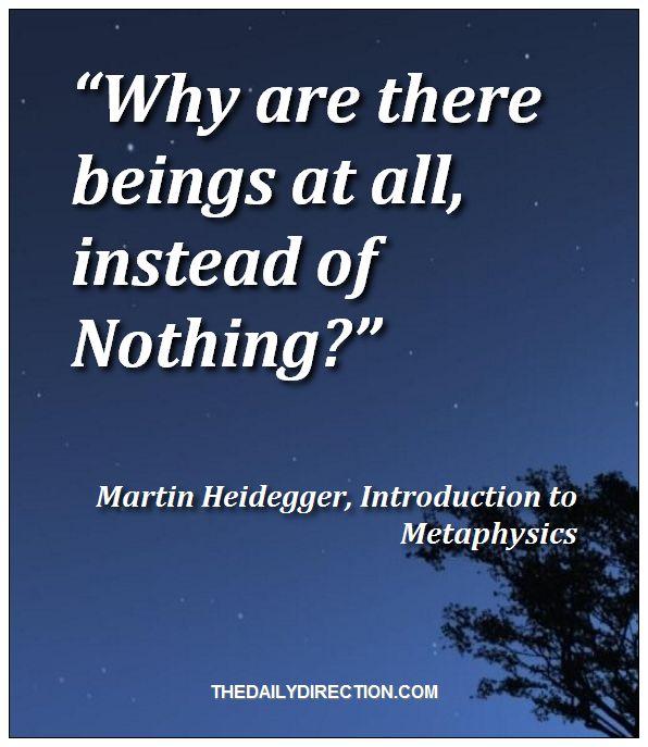 Martin Heidegger philosophy quote