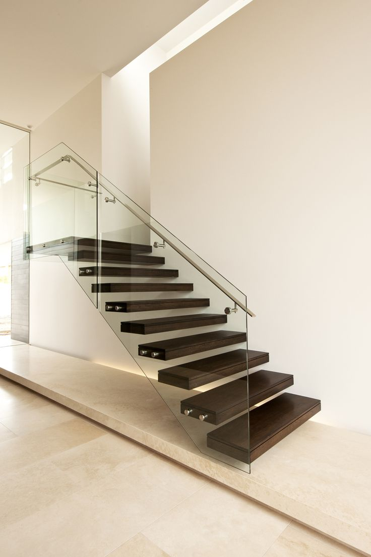 American Oak | Modern | Stair | Glass | Steel | Architecture | Design | Home | Interior | Cantilevered | House | Clean | Lines | Timber