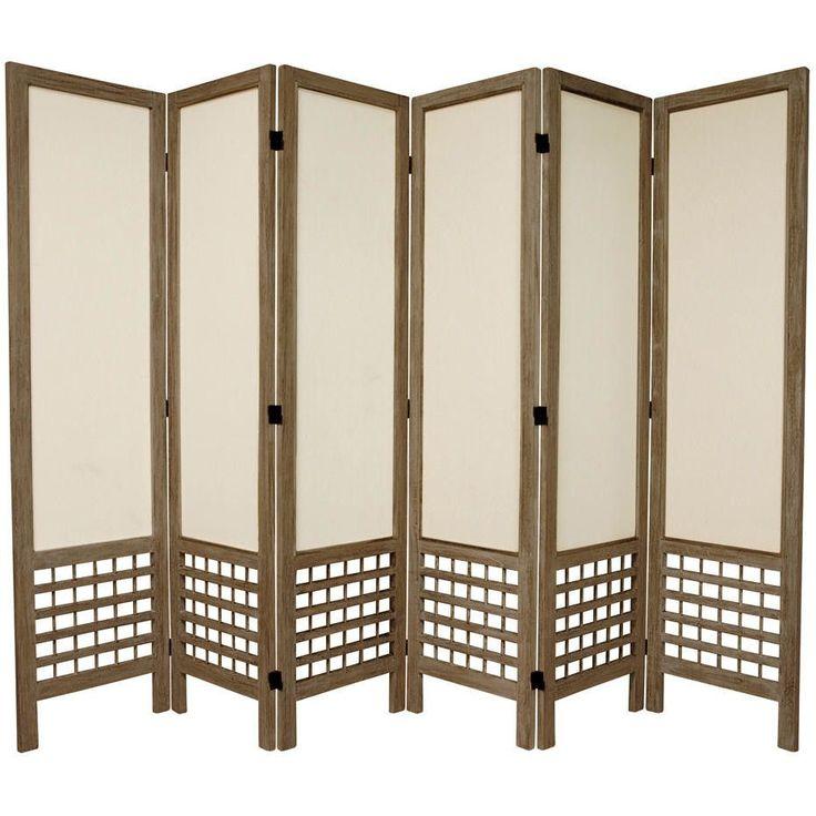 67 Tall Open Lattice Fabric 6 Panel Room Divider Room