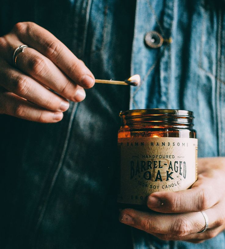 Barrel Aged Oak Soy Candle by Damn Handsome