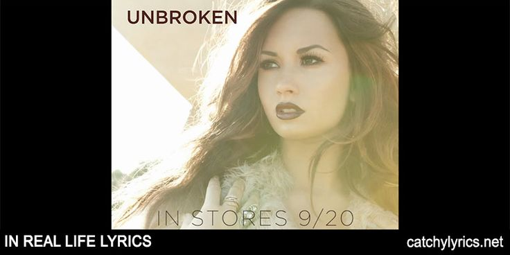 In Real Life Lyrics: This is the lovely English song lyrics that is sung by Demi Lovato and it is sung on the album Unbroken. [Read More...]