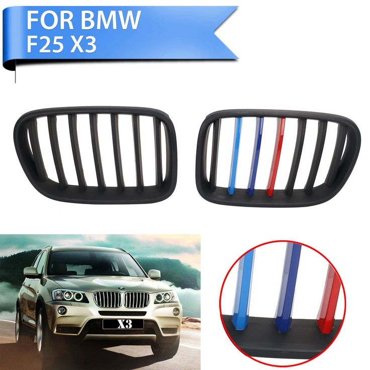 94.59$  Watch here - http://aliov2.worldwells.pw/go.php?t=32697928064 - New Matte Black M-color Front Grilles Kidney Grill For BMW F25 X3 SUV xDrive 28i 35i 2011 2012 2013 Car-Styling #P345