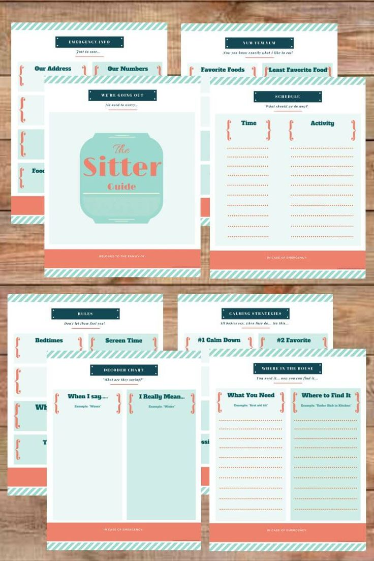 FREE printable sitter guide - this is amazing!! Helps the decode what words the babies are trying to say, what they're allowed, what they're not allowed, emergency contacts and more!