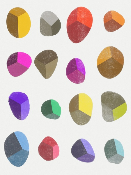 Painted Pebbles 2 by Garima Dhawan, on Society6