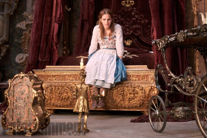 See new photos of star Emma Watson in the new take on the Disney classic.