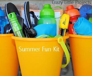 Summer Fun Kit - the kids get it on their last day of school.  Cute!