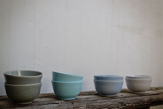 Perfect soup bowls in stunning soft colours