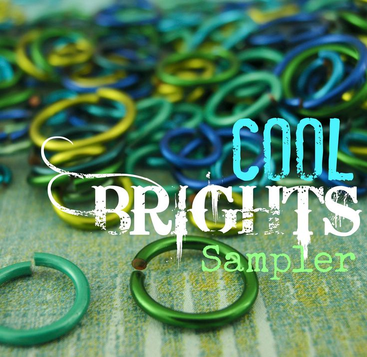 COOL Brights Colored Jump Ring Sample Package - via Etsy.