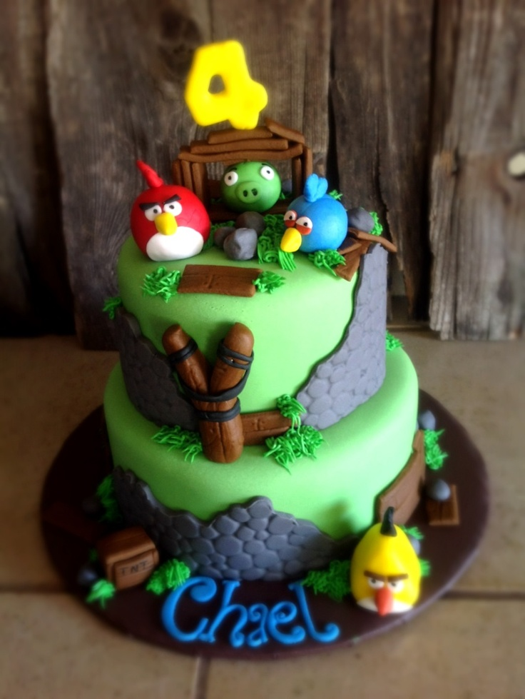 108 best images about angry birds cakes cupcakes and for Angry birds cake decoration