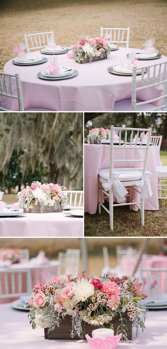 Outdoor Baby Shower Venues | Beautiful Southern Baby Shower in Pink