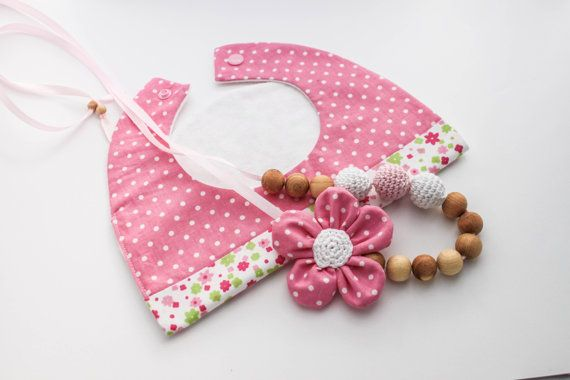 Girly Pink Gift Set Nursing Necklace/Teething and by CasaDeGato, $30.00