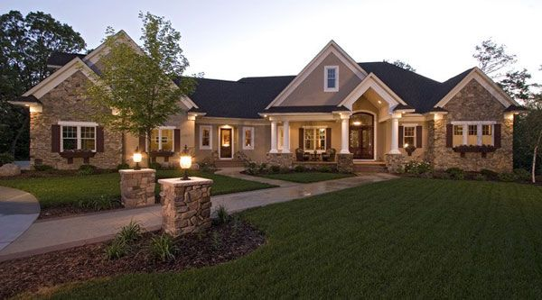 #FrenchCountry #houseplan featuring an open floor plan, home office, daylight basement and many more key features! Check them out here: http://houseplans.bhg.com/plan_details.asp?PlanNum=9668