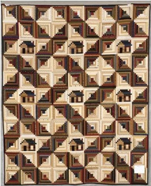 Kentucky Log Cabin, made from the original pattern in Judy Martin's Log Cabin Quilt Book by Carol Huehn. Viewer Photos