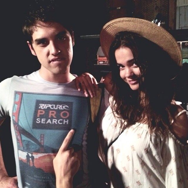 David Lambert and Maia Mitchell looking adorable as always. Mavid is happening!!!! THE FEELS. By the way, David totally wants to ''jam'' with Maia (;