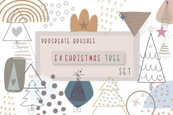 Procreate Brushes 54 Christmas Tree Set Brush Stamps Brushes 950507 Procreate Design Bundles In 2020 Christmas Tree Set Procreate Brushes Christmas Tree