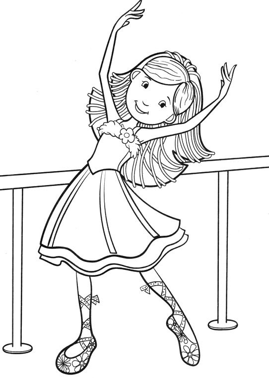 Dancing Groovy Girls Coloring Pages