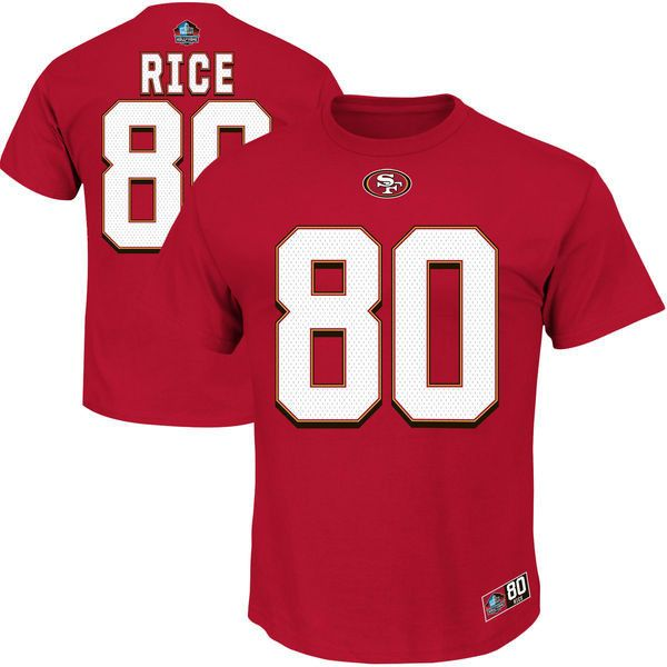 San Francisco 49ers Mens Jerry Rice Hall of Fame Eligible Receicer Name and Number T-Shirt