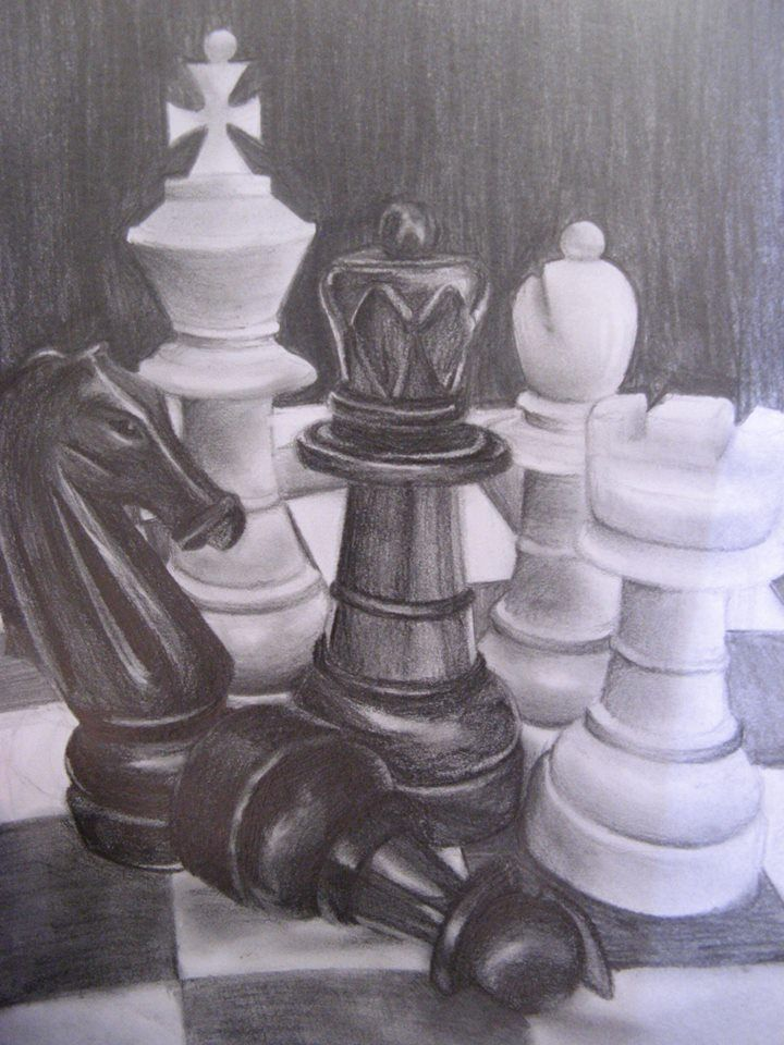 Drawing Of Chess Pieces Art Drawing Illustration Drawings Pinterest Chess Pieces